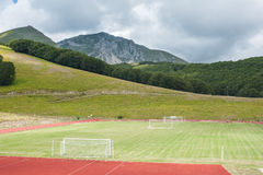 Terminillo, Italy - August 11 2016. Sports field Enrico Leoncini Royalty Free Stock Photo