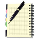 Terminkalender mit Stift Lizenzfreie Stockbilder