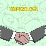 Terminologia da escrita do texto da escrita Coleção do significado do conceito dos termos usados pela indústria diferente do estu ilustração royalty free