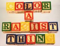 Terminu kolor jest rasistowskim rzeczą przedstawiającym wzrokowo Obrazy Royalty Free