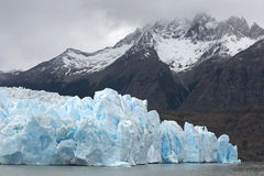 Terminus of big glacier Stock Photos