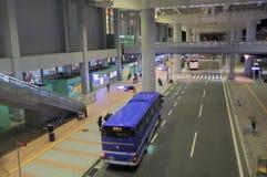 Terminus de bus d'aéroport international de Kansai Osaka Japan Images libres de droits