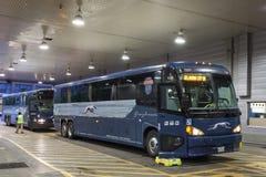 Terminus de bus de lévrier à Dallas, le Texas photos libres de droits