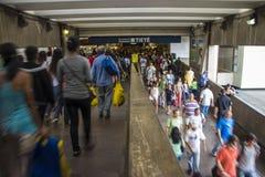 Terminus de bus de Tietê - Sao Paulo - Brésil Photographie stock libre de droits