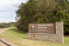 Terminus du sud de Natchez Trace Parkway photos stock