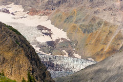Terminus of the Emmons glacier. With moraines, USA royalty free stock image