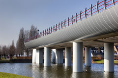 Terminus of a metro overpass. Terminus of the metro overpass in Spijkenisse in the Netherlands Royalty Free Stock Images