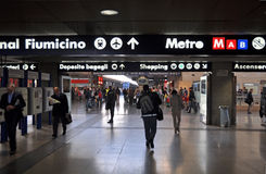 Terminus Sation ferroviaire, Rome Italie Photos stock