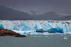 Terminus Viedma lodowiec w Południowym Patagonia obrazy royalty free