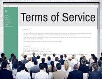 Terminy usługa warunków reguły polisy przepisu pojęcie zdjęcie royalty free