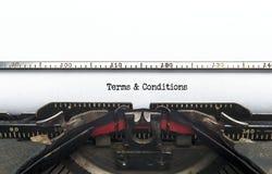 Terminy & warunki Fotografia Stock