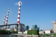 Termisk kraftverk Royaltyfri Fotografi