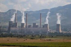 Termisk kraftverk i den öppna luften albacoren fotografering för bildbyråer