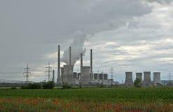 Termisk kraftverk i Turceni Royaltyfria Bilder
