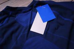 Termisk underkläder för sportar Detaljer material, närbild arkivfoton
