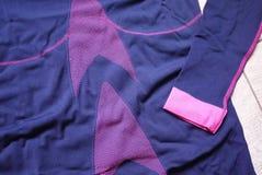Termisk underkläder för sportar Detaljer material, närbild royaltyfri fotografi