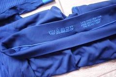 Termisk underkläder för sportar Detaljer material, närbild arkivfoto