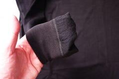 Termisk underkläder för sportar Detaljer material, närbild arkivbilder