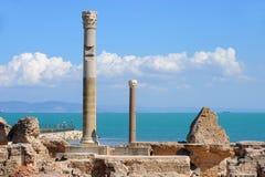 Termiska bad av Antonin på Carthage royaltyfria bilder