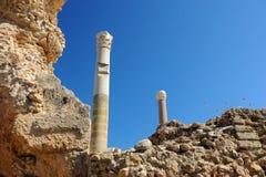 Termiska bad av Antonin på Carthage royaltyfri bild