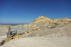 Termiskt område i Vulcano eoliska öar Royaltyfri Fotografi