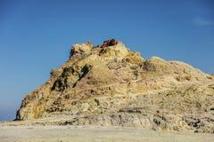 Termiskt område i Vulcano eoliska öar Arkivbild