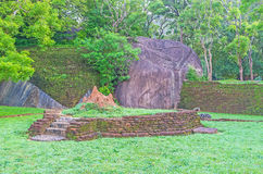 Termitary among the ruins Stock Image