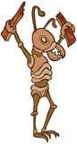 Termite. Cartoon image of a termite that enjoys eating wood Stock Photos