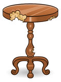 Termite damaged table Royalty Free Stock Photo