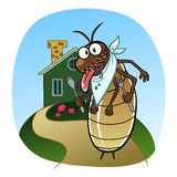 Termite go to house Royalty Free Stock Photo