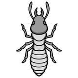 Termite Illustration. A vector illustration of a Termite Stock Image
