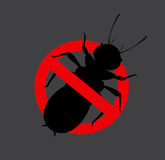 Termite Insect Prohibited Sign. Vector Illustration Royalty Free Stock Images