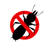 Termite Insect Remove Sign. Vector Illustration Royalty Free Stock Images