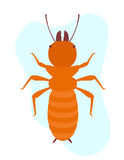 Termite Insect Vector. Creepy Weird Termite Insect Vector Illustration Royalty Free Stock Photos