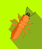 Termite Insect Vector Illustration. Cartoon Termite Insect Vector Illustration Stock Photos