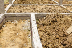 Termite protection system on home foundation Stock Images