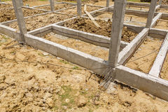 Termite protection system on home foundation Stock Image