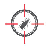 Termite on Target. Vector Illustration Stock Images