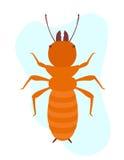 Termiten-Insekten-Vektor Lizenzfreie Stockfotos