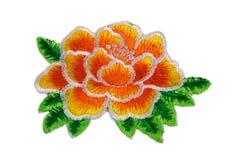 Termo-applicazione dei fiori Isolato su bianco immagine stock libera da diritti