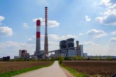 Termo centrale elettrica fotografie stock libere da diritti