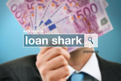 Termo do glossário da barra da busca da Web - tubarão de empréstimo fotografia de stock royalty free