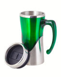 Termo mug for traveller Royalty Free Stock Images