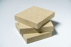Termo Plate made of Mineral Vermiculite. Samples for Production Stock Photography