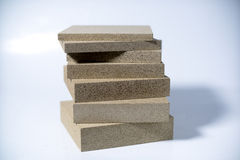 Termo Plate made of Mineral Vermiculite. Samples for Production Royalty Free Stock Photos