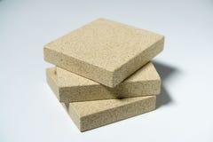 Termo-Platte hergestellt vom Mineralvermiculit Stockfotografie