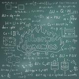 Termodynamiklagteori och equat för matematisk formel för fysik Royaltyfri Fotografi
