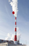 Termoelektryczna elektrownia z kwiatem Obraz Stock