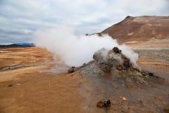 Termogeyzery Islândia Fotos de Stock Royalty Free