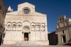 Termoli (Italië) - de voorzijde van de Kathedraal Stock Foto